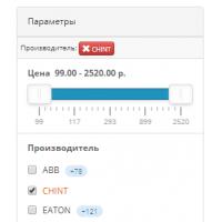 Новая система фильтрации для подбора товара на сайте