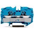 Клемма 2-проводная проходная 16мм цвет синий (WAGO)