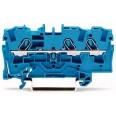 Клемма 3-проводная проходная 4мм цвет синий (WAGO)