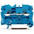 Клемма 2-проводная проходная 4мм цвет синий (WAGO)