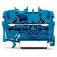 Клемма 2-проводная проходная 1,5мм цвет синий (WAGO)
