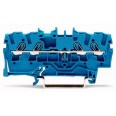 Клемма 4-проводная проходная 2,5мм цвет синий (WAGO)