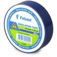 Изолента 15х10 синяя Folsen
