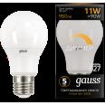 Лампа Gauss LED A60-dim E27 11W 960lm 3000К диммируемая