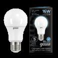Лампа Gauss LED A60 16W E27 1470lm 4100K