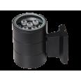 Светильник настенный наклад. с прозр. рассеив-м cветодиод. (LED) 9x9Вт 185-265В IP65 черный 600лм 6500К Jazzway