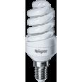 Лампа энергосберегающая (КЛЛ интегрированная) «спираль» d34мм E14 9Вт 230В нейтральная холодно-белая 4000К/840 10000ч Navigator