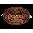 Провод монтажный витой ПВХ 2х0,75мм, цвет - шоколад (бухта 50м),ТМ `МЕЗОНИНЪ`
