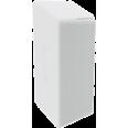 Заглушка торцевая для двойного С-образного профиля 41х41 мм, белаяRAL9010