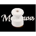 Изолятор из искусственной керамики для монтажа витого провода, цвет - белый, D18,5х24мм, кол-во жил: 2-3, 50 шт /уп, ТМ `МезонинЪ`