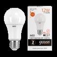 Лампа Gauss LED Elementary A60 12W E27 1130lm 3000K