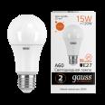 Лампа Gauss LED Elementary A60 15W E27 1320lm 3000K