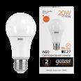 Лампа Gauss LED Elementary A60 20W E27 1520lm 3000K