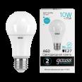 Лампа Gauss LED Elementary A60 10W E27 920lm 4100K