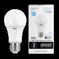 Лампа Gauss LED Elementary A60 20W E27 1750lm 6500K