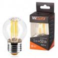 Лампа LED WOLTA FILAMENT G45 5Вт 545лм E27 4000K 1/10/50