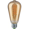 Лампа светодиодная (LED) «груша» d64мм E27 360° 4Вт 176-264В прозрачная сверхтеплая желтая 2500К Navigator