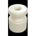 Изолятор универсальный пластиковый, цвет - слоновая кость (100шт/уп)