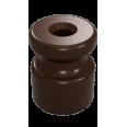 Изолятор универсальный пластиковый, цвет - коричневый (100шт/уп)