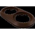 Рамка 2-местная пластиковая, коричневый, УСАДЬБА