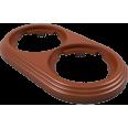 Рамка 2-местная пластиковая, какао, УСАДЬБА