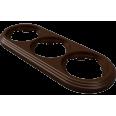 Рамка 3-местная пластиковая, коричневый, УСАДЬБА