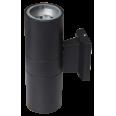 Светильник настенный наклад. с прозр. рассеив-м cветодиод. (LED) 2x5Вт 85-265В IP65 черный 700лм 6500К Jazzway