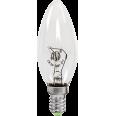 Лампа накаливания СВЕЧА B35 прозрачная 60Вт Е14 ASD