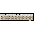 Клеммный зажим винтовой КЗВ 6-12 6А 1,5-4мм 12пар LLT