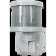 Датчик движения инфракрасный ДД-018-W 1200Вт 220 градусов 12м, IP44 белый LLT