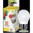 Лампа LED-ШАР 3.5W/3000К 220В Е27 300Лм ASD