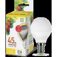 Лампа LED-ШАР 5.0W/3000К 220В Е14 400Лм ASD