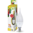Лампа светодиодная LED-СВЕЧА на ветру-standard 7.5W 160-260В Е14 3000К 600Лм ASD