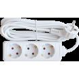 Удлинитель 3G-3-SMART 3-х местн 10А с з/к 3м 8333 IN HOME