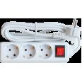 Удлинитель 3GS-3-SMART 3-х местн c выкл 10А с з/к 3м 8433 IN HOME