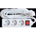 Удлинитель 3GS-5-SMART 3-х местн c выкл 10А с з/к 5м 8435 IN HOME