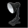 Светильник настольный под лампу СНП-11Ч на прищепке 40Вт E27 ЧЕРНЫЙ(коробка) IN HOME