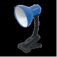 Светильник настольный под лампу СНП-11С на прищепке 40Вт E27 СИНИЙ (коробка) IN HOME