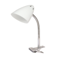 Светильник настольный под лампу СНП-04Б на прищепке 60Вт E27 БЕЛЫЙ (мягкая упак.) IN HOME