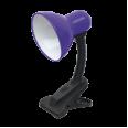 Светильник настольный под лампу СНП-11Ф на прищепке 40Вт E27 ФИОЛЕТОВЫЙ (коробка) IN HOME