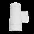 Светильник уличный двухсторонний ЦИЛИНДР-2П-GX53 пластик под лампу 2хGX53 230B белый IP65 IN HOME