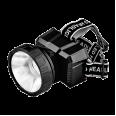 Фонарь налобный аккумуляторный HLA 08B LED 150Lm 9ч 2 режима, з/у 230В ЧЕРНЫЙ IN HOME