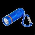 Фонарь-брелок KL 61B LED батарейки в комплекте алюминиевый СИНИЙ IN HOME