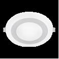 Панель светодиодная круглая встраиваемая RLP-BL 9Вт 230В 4000К 540Лм 145мм с подсветкой белая IP20 IN HOME