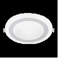 Панель светодиодная круглая встраиваемая RLP-BL 16Вт 230В 4000К 960Лм 195мм с подсветкой белая IP20 IN HOME
