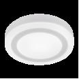 Панель светодиодная круглая накладная NRLP-BL 9Вт 230В 4000К 540Лм 145мм с подсветкой белая IP20 IN HOME