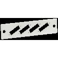ITK Панель для 4-ех оптических адаптеров (SC-Duplex в 19` кросс)