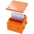 Коробка стальная FS с кабельными вводами и клеммниками,IP55,150х150х80мм,5р, 450V,10A, 6мм.кв.