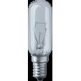 Лампа накаливания трубчатая d25мм E14 40Вт 230В прозрачная белая для холодильников Navigator