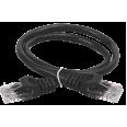 ITK Коммутационный шнур (патч-корд), кат.5Е UTP, 0,5м, черный
